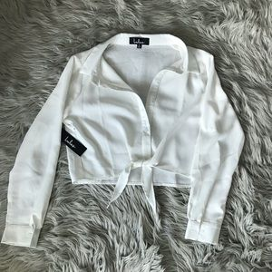 Perfect white summer crop top, never worn, Small